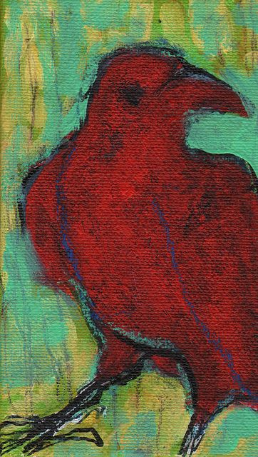 """Colors in this are Phenomenal!!!!  """"The Little Red Crow""""  by Maria Pace-Winters"""