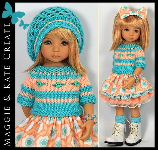 Turquoise & Peach Outfit Little Darlings Dianna Effner 13  Maggie & Kate Create