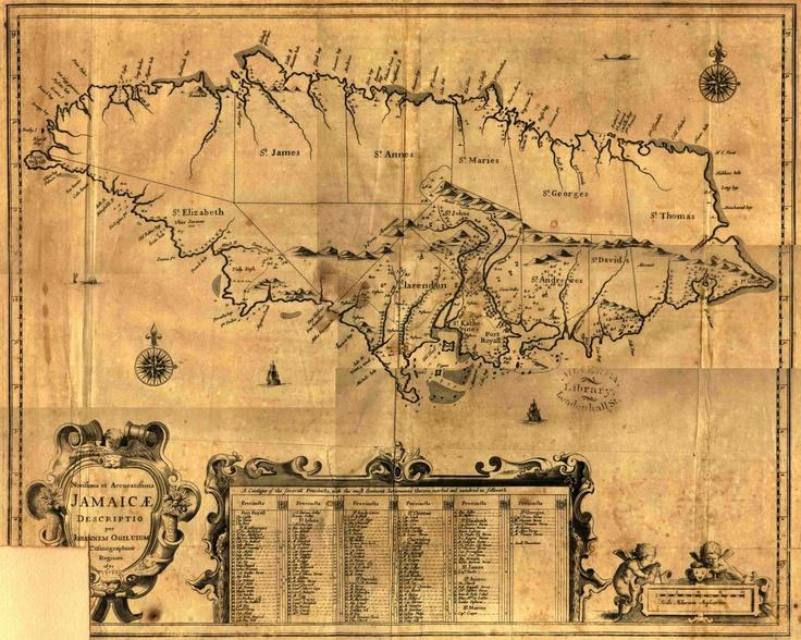 52 Best Vintage Jamaica Images On Pinterest Chalkboards: Old Map Of Jamaica At Infoasik.co