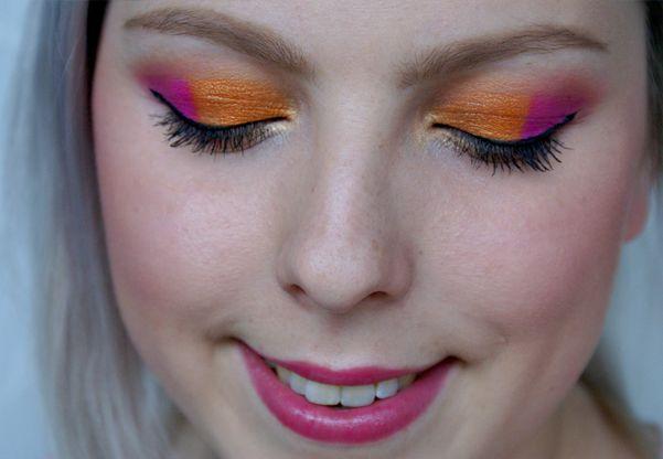 Super Jarní Oranžovo Růžové Oči Makeup Tutorial