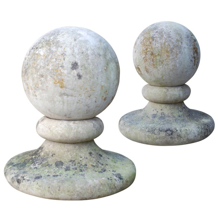 Mock Stone Finial Light For Garden Gate Posts Pedestals