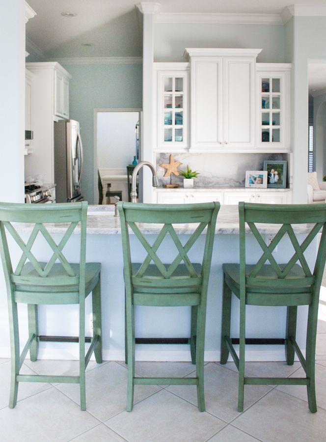 Coastal kitchen and family room the o 39 jays family rooms and kitchen designs - Coastal kitchen design ...