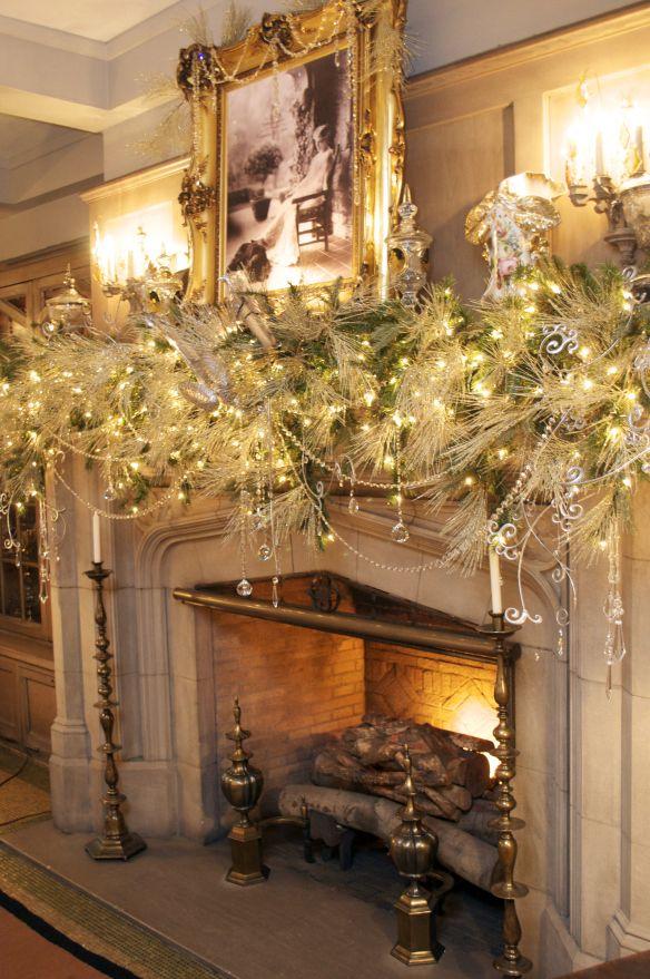 winter white mantle garland