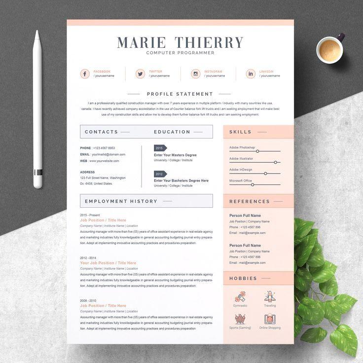 Resume Template Cv Template Resume Design Cv Template Resume