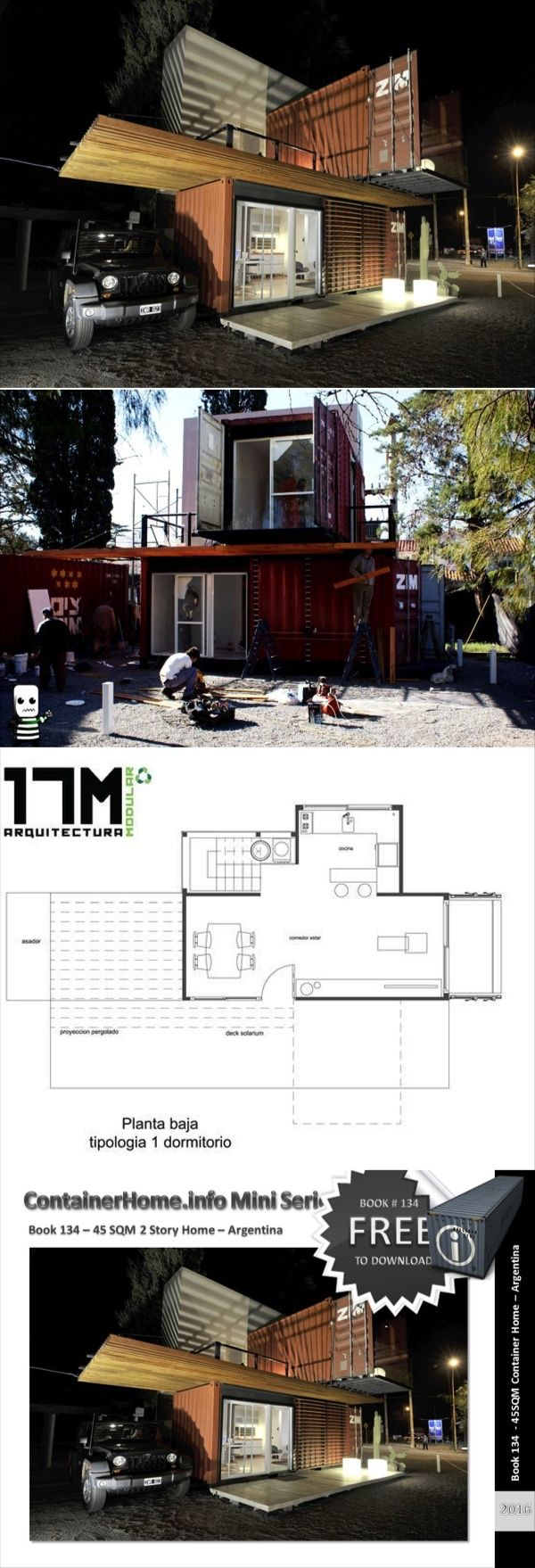 Shipping Container Homes Book Series – Book 134 - Shipping Container Home Plans - How to Plan, Design and Build your own House out of Cargo Containers