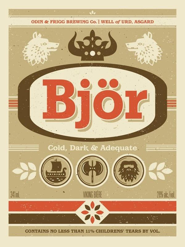 Bjor: Viking Beer Label