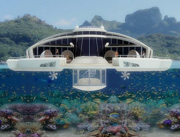 Un'isola galleggiante, un nuovo modo di andare in vacanza. http://www.nuvolari.tv/recensioni--/solar-floating-resort