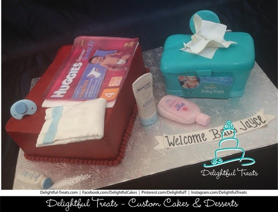 Huggies Diaper Bag, Pampers Baby Wipes, Aveeno Baby Daily Moisture, Johnson & Johnson Baby Lotion Baby Shower Cake with a pacifier by Delightful Treats Delightful Treats | #Huggies #Diaper #Bag #Pampers #Baby #Wipes #Aveeno #Baby #Moisture #JohnsonJohnson #BabyLotion #Baby #Shower #Cake #pacifier #DelightfulTreats #DiaperCake #babywipeCake #Babyshowercake #HuggiesCake #pamperscake #BabywipeCake #Custom #babyShowerCake
