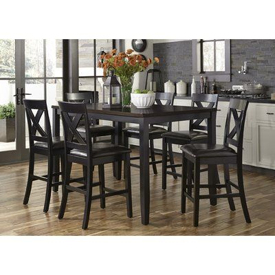 Darby Home Co Nadine 7 Piece Breakfast Nook Dining Set