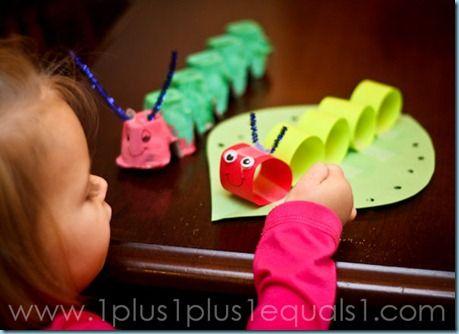 Tot School ~ C is for Caterpillar - 1+1+1=1