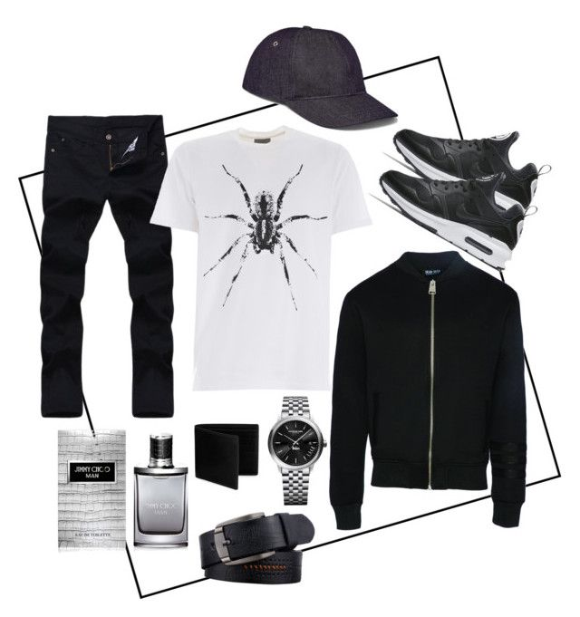 """""""Mätthu's Outfit"""" by eva-thomi on Polyvore featuring NIKE, Dear Deer, Lanvin, Maison Margiela, Raymond Weil, Jimmy Choo, A.P.C., men's fashion and menswear"""