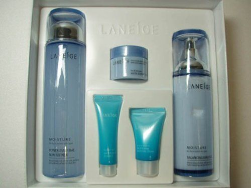 Korean Cosmetics_Laneige New Basic Duo Set_dry skin by Laneige. $79.99. Laneige products pursue the artistic sense of snow crystals and complete the beauty of women in their 20s and 30s through the hydrating science of water, the final destination of snow.. Laneige products are based on the long time study and research of water, the source of life and the most important element of healthy skin.. CAPACITY  Laneige Power Essential Skin Refiner (moisture) - 200ml ...