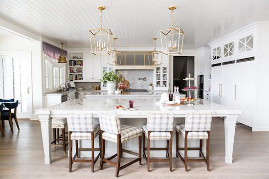 It was the Kelly Wearstler wallpapered cabinets in this beautiful kitchen that first caught my eye over on Pinterest . That one interest...