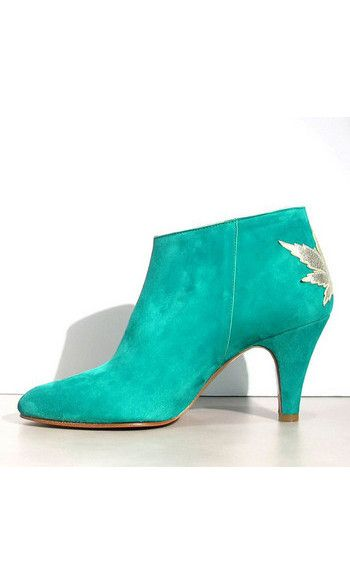 SS17 COLLECTION | New iN from Patricia Blanchet boots Kaktus daim vert #kaktus #patriciablanchet #boots #vert #green #suede #daim