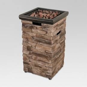 Enjoy your outdoor area all year round thanks to the Chisholm Square Fire Column from Threshold™. This stone fire column features natural colors that look right at home with your existing patio furniture. The smoke-free flame is adjustable to your liking and is powered by a 20-pound propane tank (not included). It emits an impressive 30,000 BTUs to keep your family and friends warm while you entertain.