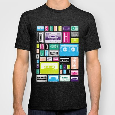 Mix Tapes T-shirt by penny candy - $18.00