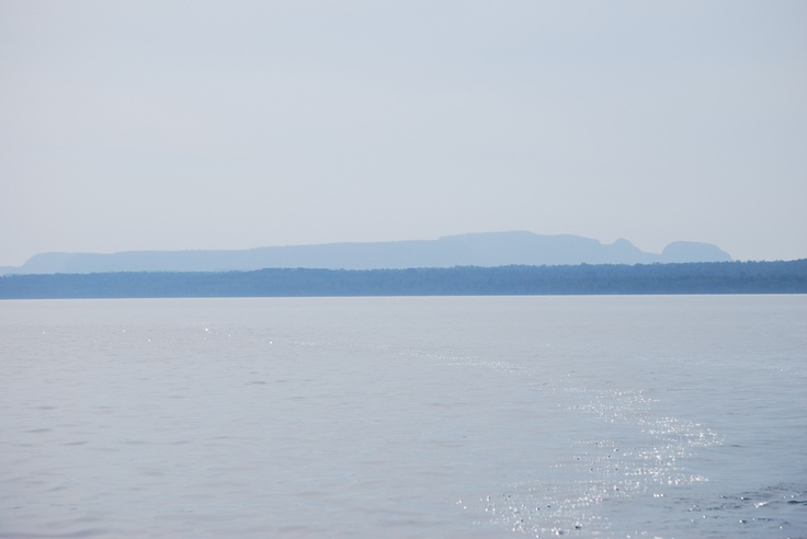 Sleeping Giant seen from Black Bay, Lake Superior