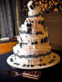 music wedding cake. I love this :3