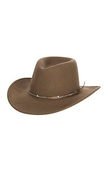 351976006bb6e Stetson Mountain Sky Acorn Crushable Tycoon Wool Cowboy Hat