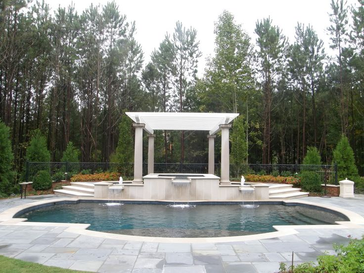 Pool Shade Ideas 13 cool shade sails for your backyard canopykingpincom Love The Idea Of A Pergola Over Part Of The Pool For Shade