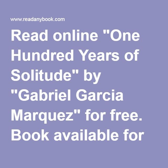 23 best alibris coupons images on pinterest book books and coupon read online one hundred years of solitude by gabriel garcia marquez for fandeluxe Images