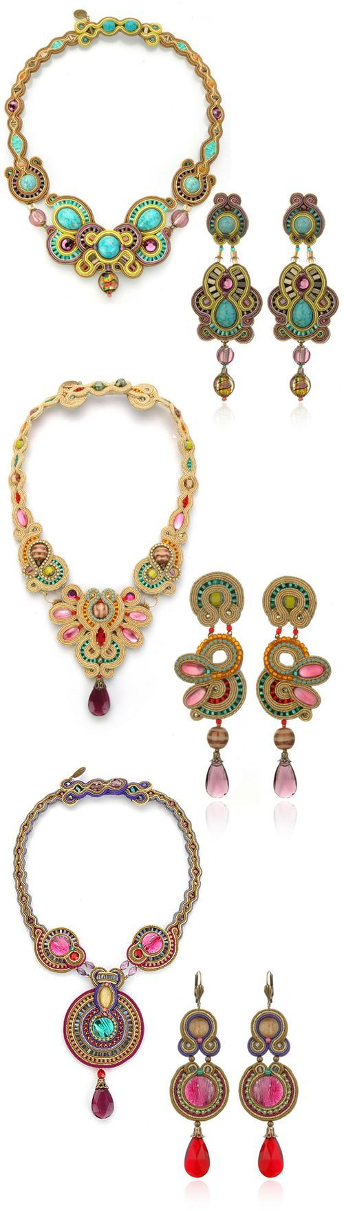 soutache - earrings and necklaces