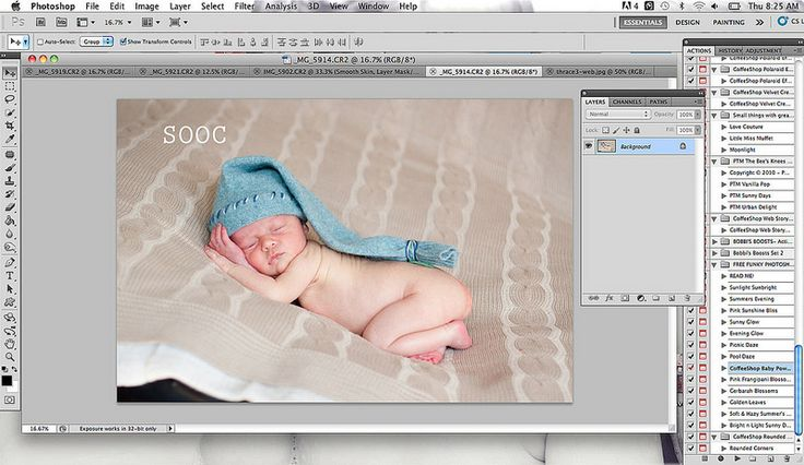 Awesome and easy to follow tutorial for editing newborn pictures in photoshop!