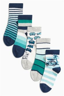 Next Blue Socks Five Pack (Younger Boys) £5.50