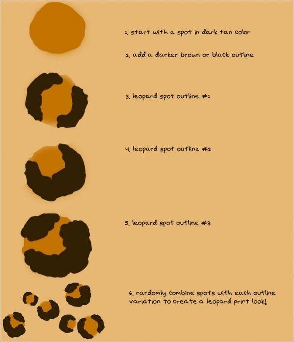 how to paint leopard spots