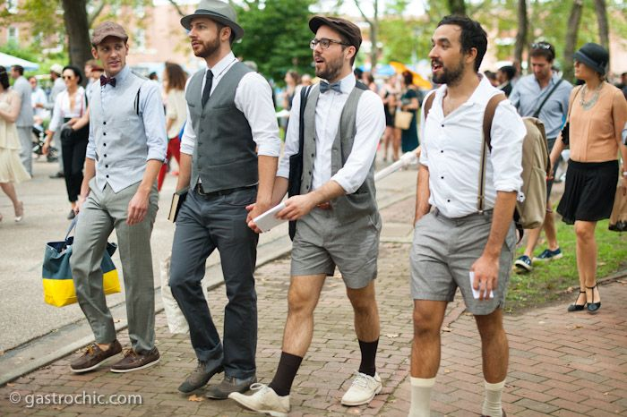 (what a dream!!!) Four Guys in Gray Suits, Jazz Age Lawn Party