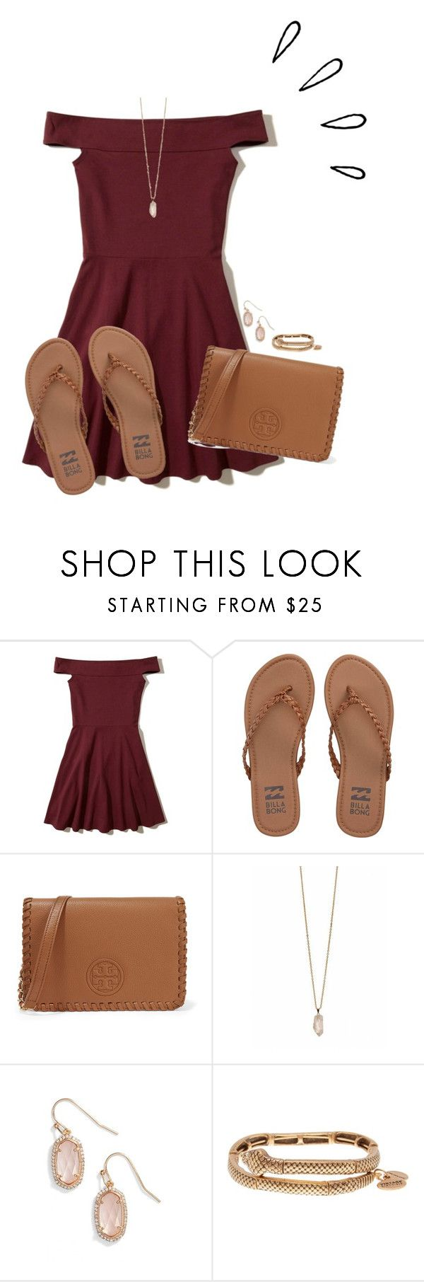 """""""Set #1 By My Cousin!"""" by annaewakefield ❤ liked on Polyvore featuring Hollister Co., Billabong, Tory Burch, Zoya, Kendra Scott, Alex and Ani and Old Navy"""