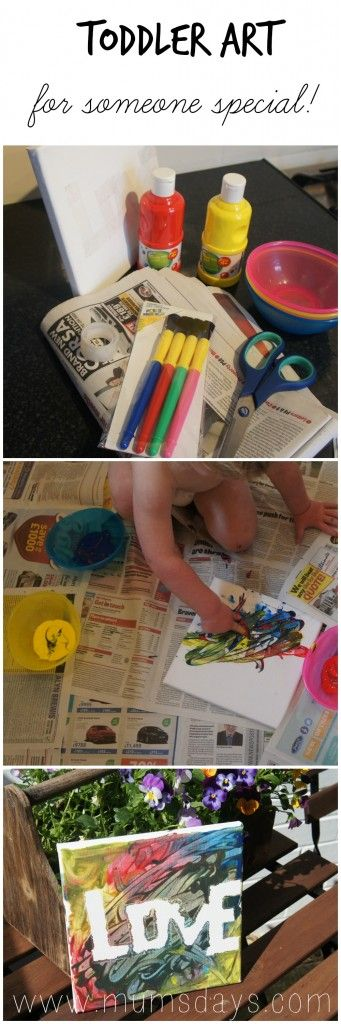 gift from a toddler!  #art #craft #DIY http://www.mumsdays.com/fathers-day-toddler-style/