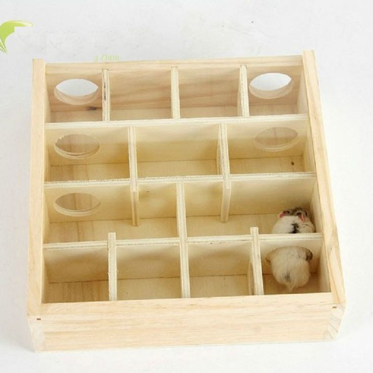 Intellectual Toys Wooden&Acrylic Glass Surface Hamster Toy Chew Toy Little Pet House Gerbil Hamster Cage Decoration Hamster Maze #Affiliate
