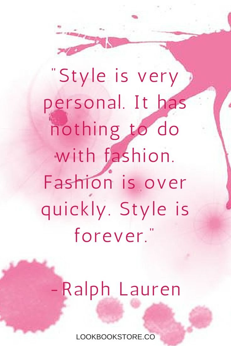 Style is about something that comes naturally within you. | Lookbook Store Fashion Quotes