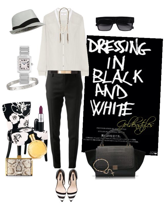 Dress in black and white #goldenstyles