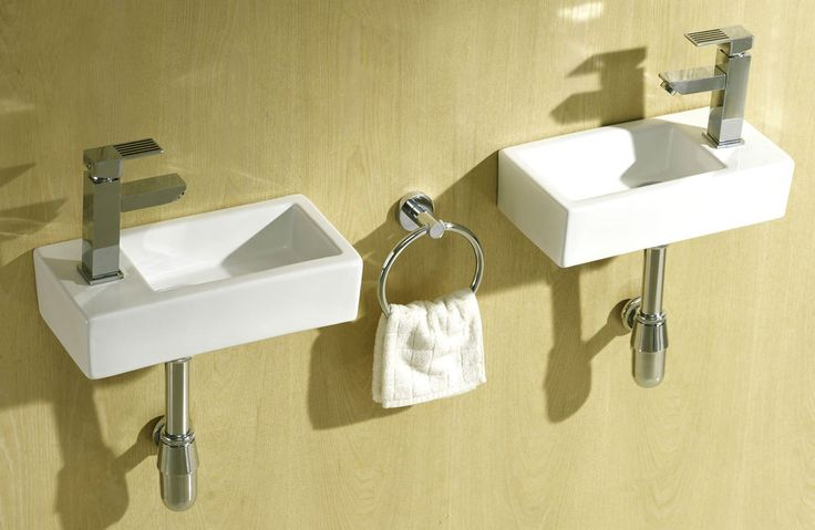 Small Compact Square Rectangle Cloakroom Basin Bathroom Sink Wall Hung 375 X 185 in Home, Furniture & DIY, Bath, Sinks | eBay