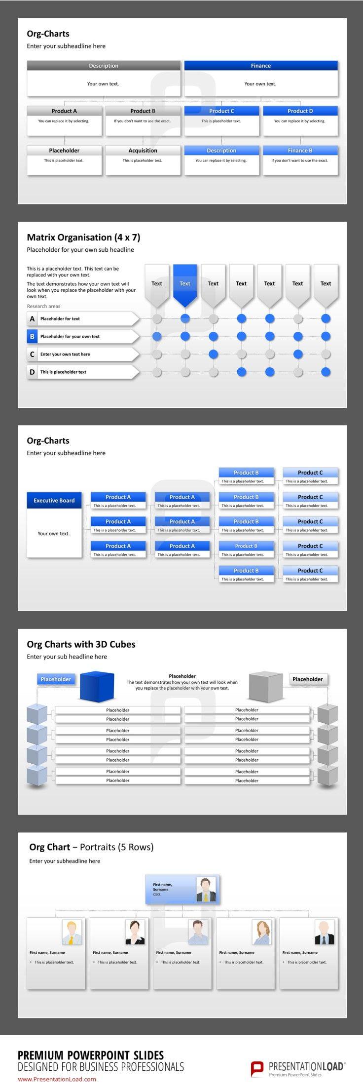 Organigramm PowerPoint, Premium Vorlagen von PresentationLoad http://www.presentationload.de/powerpoint-charts-diagramme/organigramme/