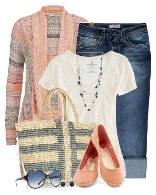 """""""Maurices Striped Blanket Cardigan"""" by brendariley-1 ❤ liked on Polyvore featuring maurices, YMI Jeans, American Eagle Outfitters, Sensi Studio, Kenneth Cole, Roberto Cavalli and Betty Jackson"""