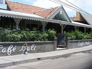 The unassuming exterior of Cafe Bali, on Jl. Oberoi (Eat St), Seminyak, Bali. You're in for a visual treat when you venture inside!