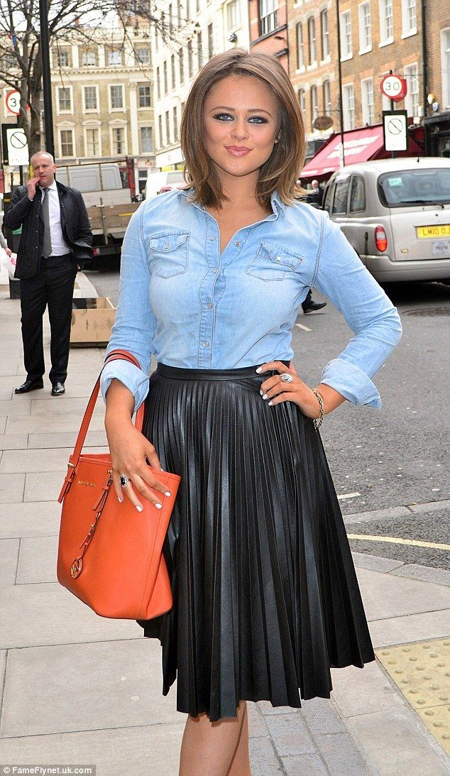 New look:The Inbetweeners actress Emily Atack showed off her newly-brunette hair as she a...