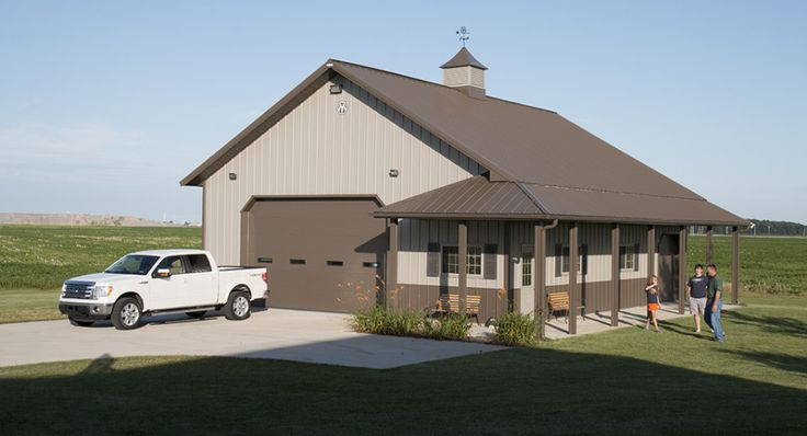 Morton buildings use clear span construction to offer open for House plans of barns with living space
