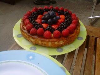 Baked vanilla cheesecake, Summer fruit and Weather on Pinterest