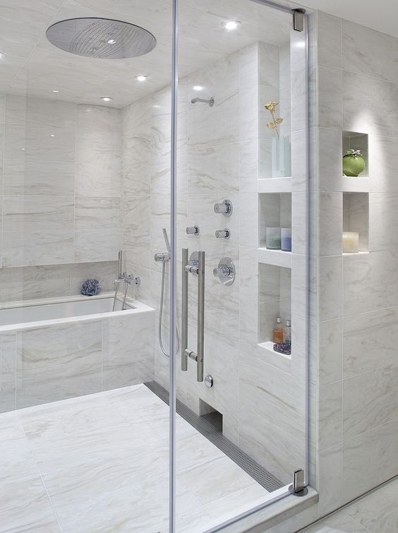 27 Best Images About Ideas Shower Niches On Pinterest Shelves New Trends And Half Wall Shower