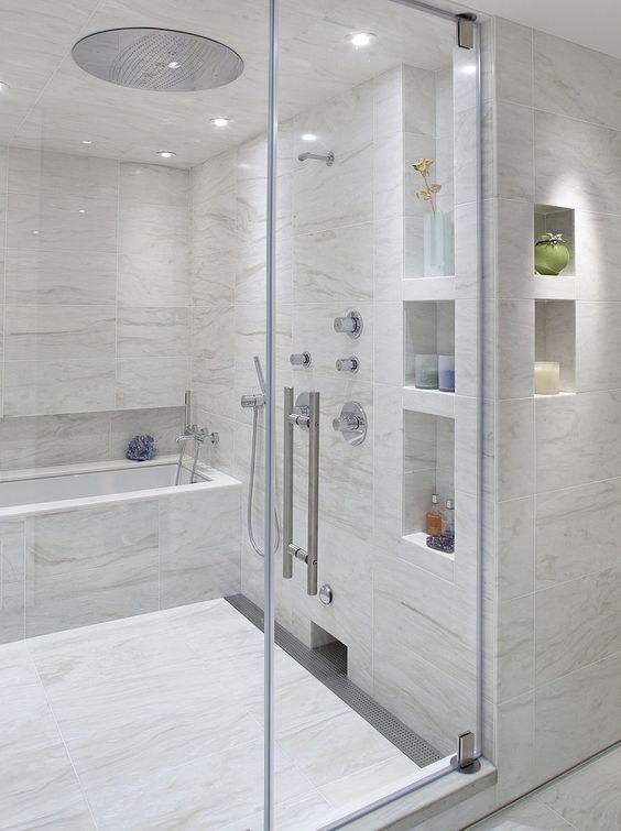 27 best images about ideas shower niches on pinterest for Bathroom niche design
