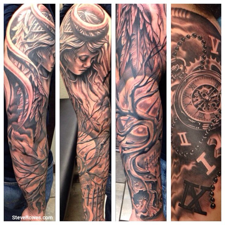 Full sleeve custom custom tattoo steverowes tattoos for Full custom tattoo