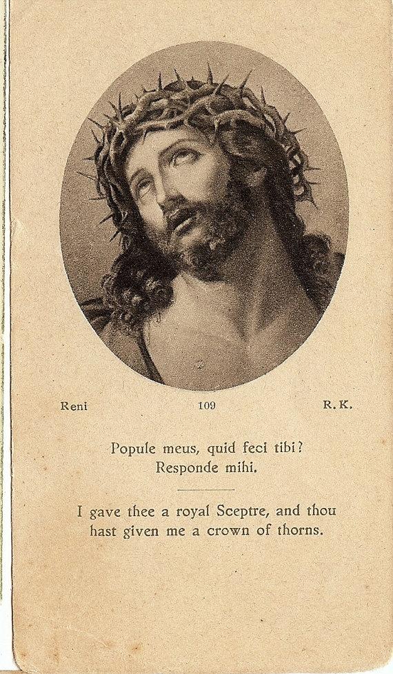 Vintage Prayer Card Catholic  Christ Jesus I by ChristmasAngels, $12.00