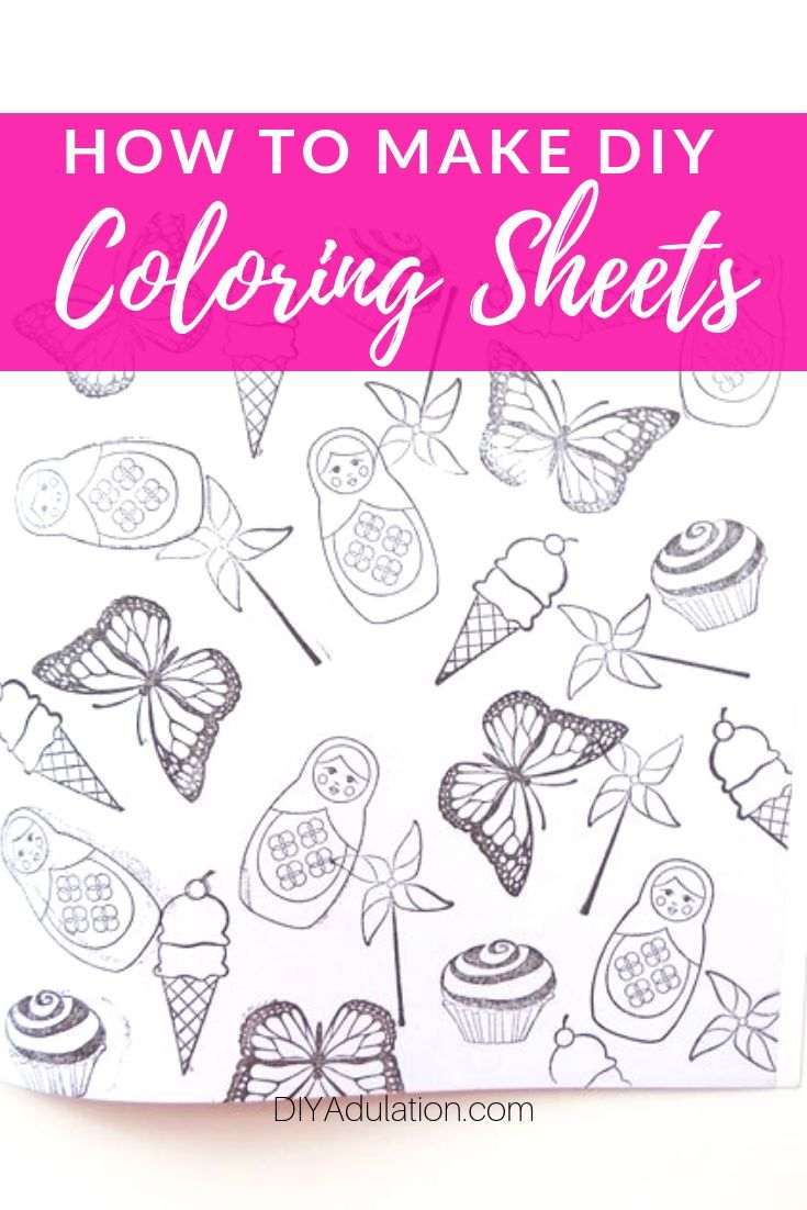 Make Your Own Coloring Book Diy Coloring Books, Coloring Books