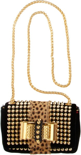 efd89153fc2 CHRISTIAN LOUBOUTIN Black Mini Sweet Charity Spikes Bag   Bags, totes, and  clutches   Pinterest   Bags, Christian louboutin and Christian louboutin  shoes