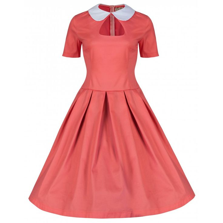 Tuesday Pink Coral Swing Dress | Vintage Inspired Fashion - Lindy Bop