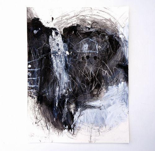 Mayako Nakamura. Karasu (2012) Acrylic and charcoal on Hahnemuhle Bamboo 265g 360x480mm